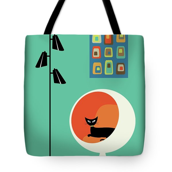 Tote Bag featuring the digital art Mid Century Mini Oblongs by Donna Mibus