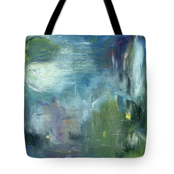 Tote Bag featuring the painting Mid-day Reflection by Michal Mitak Mahgerefteh