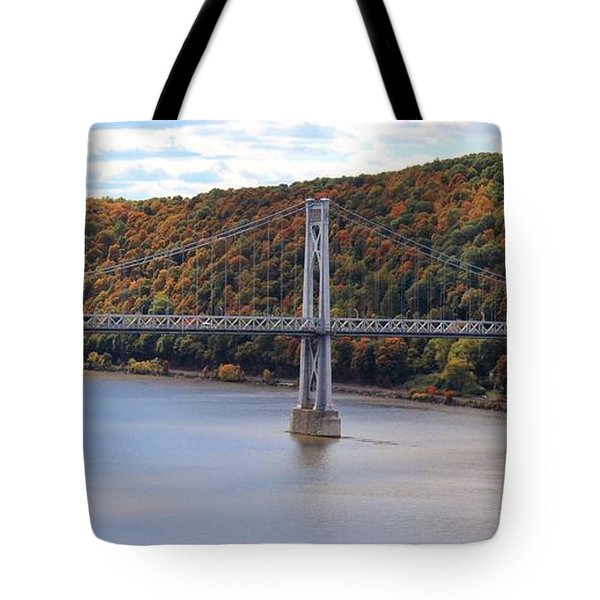 Mid Hudson Bridge In Autumn Tote Bag