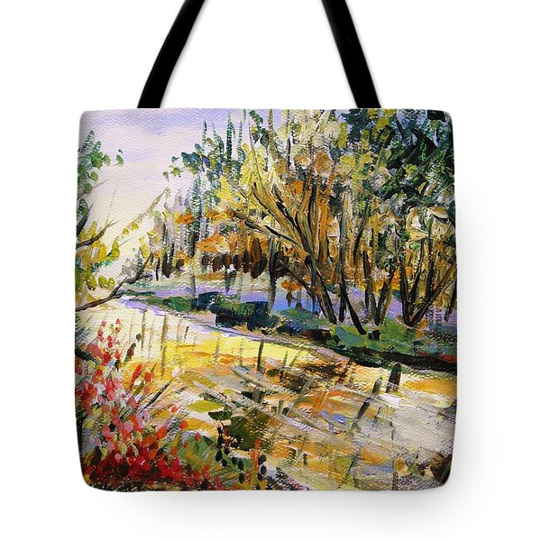 Tote Bag featuring the painting Mid-morning Light by John Williams