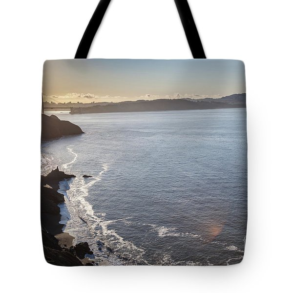 Mid Morning View Of The Downtown San Franscisco Over The Golden  Tote Bag