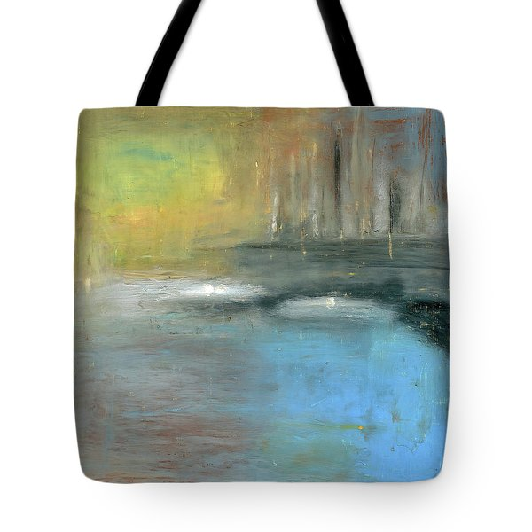 Tote Bag featuring the painting Mid-summer Glow by Michal Mitak Mahgerefteh