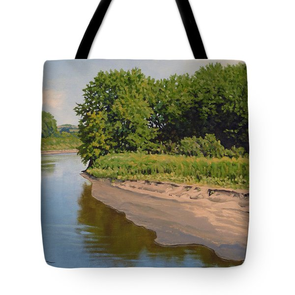 Mid Summer Prairie Stream Tote Bag
