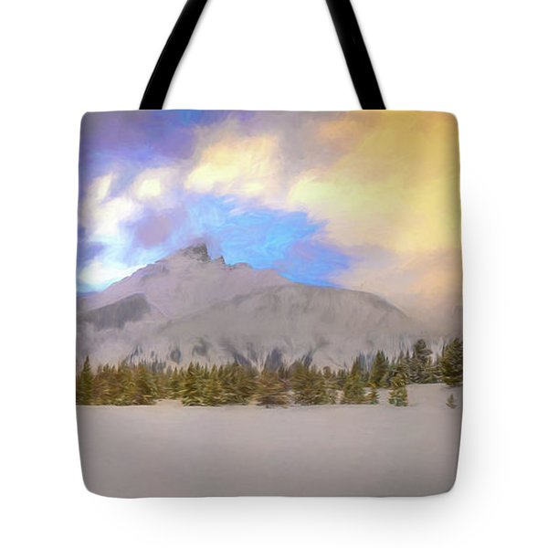 Mid-winter Sunset Tote Bag
