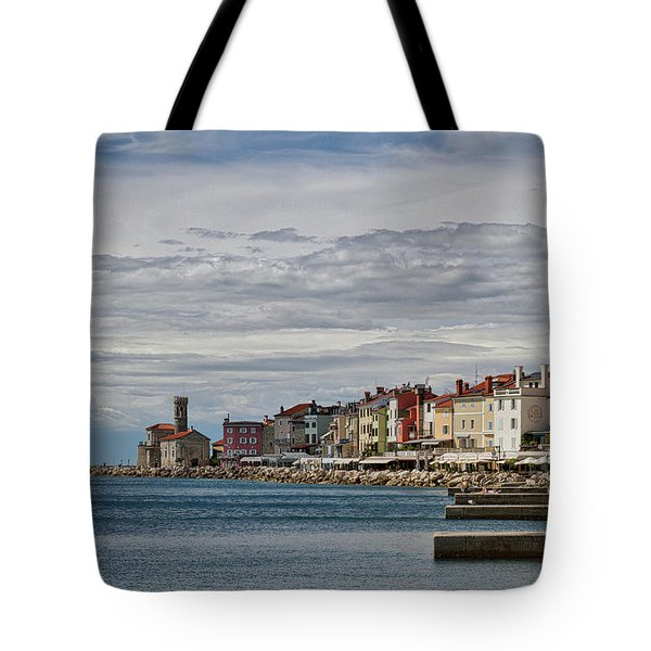 Tote Bag featuring the photograph Midday In Piran - Slovenia by Stuart Litoff