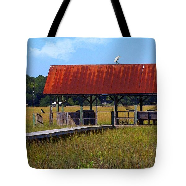 Tote Bag featuring the photograph Midday Island Creek View by Deborah Smith