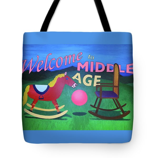 Middle Age Birthday Card Tote Bag