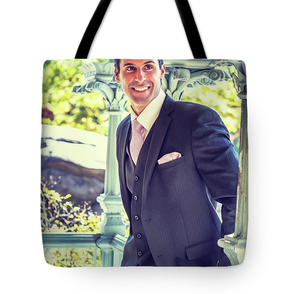 Middle Age Man Waiting For You Tote Bag