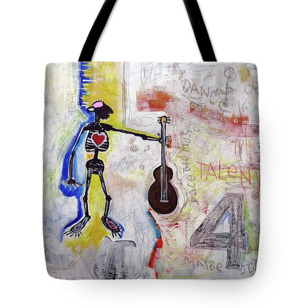 Tote Bag featuring the painting Middle-aged Musician by Rick Baldwin