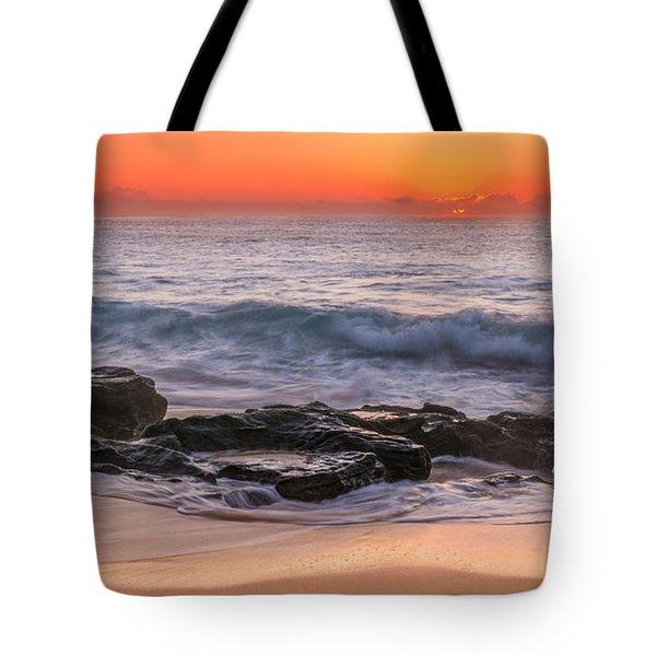 Middle Beach Sunrise Tote Bag