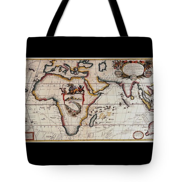 Middle Earth Map - Vintage Tote Bag by Pg Reproductions