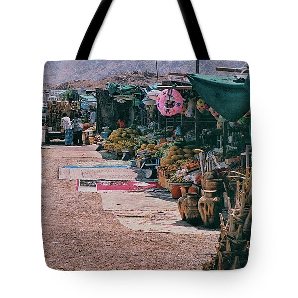 Tote Bag featuring the photograph Middle-east Market by Charles McKelroy