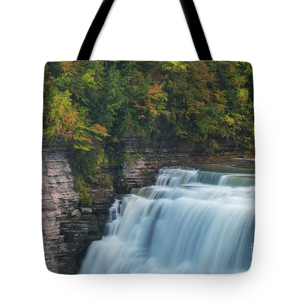 Middle Falls At Letchworth State Park Tote Bag