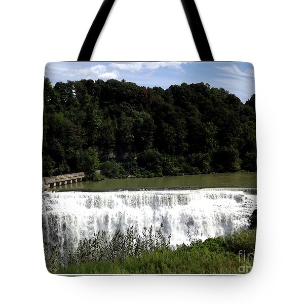 Middle Falls In Rochester New York Tote Bag