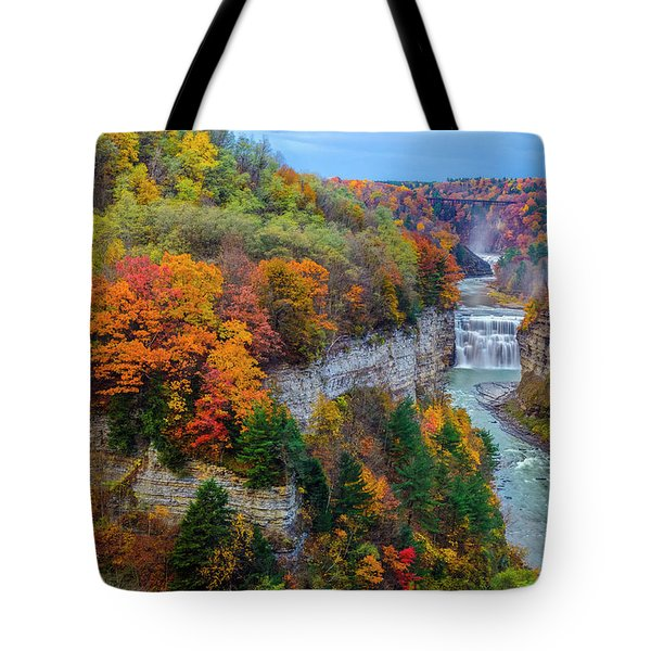Middle Falls Peak Tote Bag