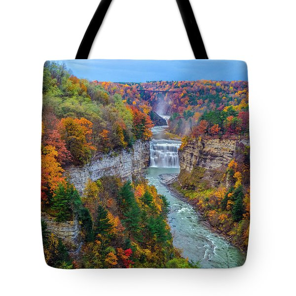 Middle Falls Peak Tote Bag by Mark Papke