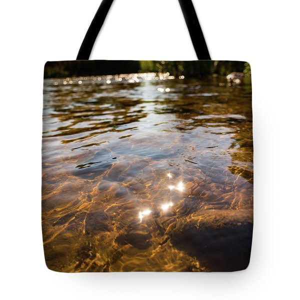 Middle Of The River Tote Bag