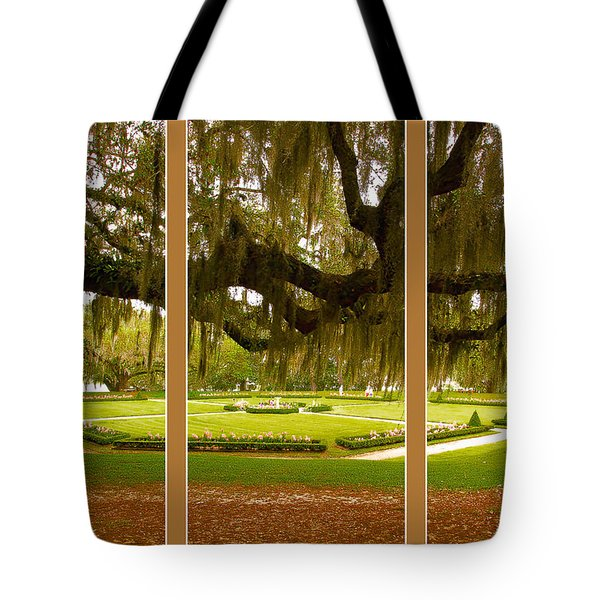 Tote Bag featuring the photograph Middleton Gardens Triptych by Bill Barber