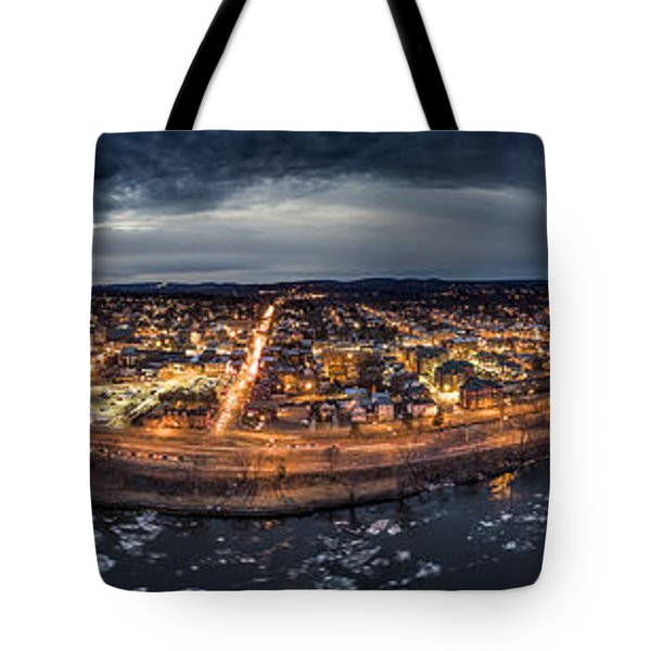 Middletown Ct, Twilight Panorama Tote Bag by Petr Hejl