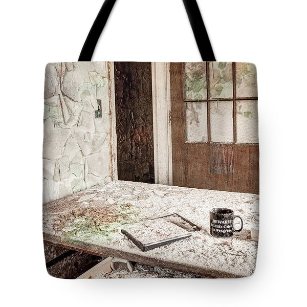 Tote Bag featuring the photograph Midlife Crisis In Progress - Abandoned Asylum by Gary Heller