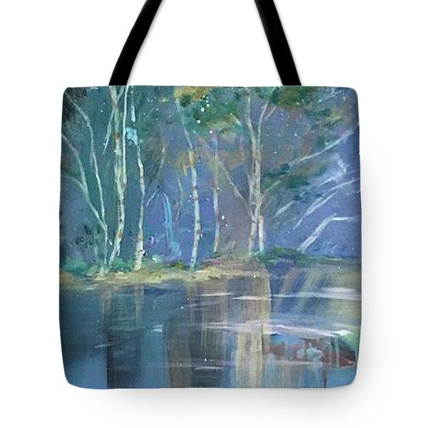 Midnight At Lake Lanier Tote Bag