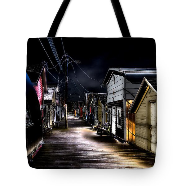 Tote Bag featuring the photograph Midnight At The Boathouse by William Norton