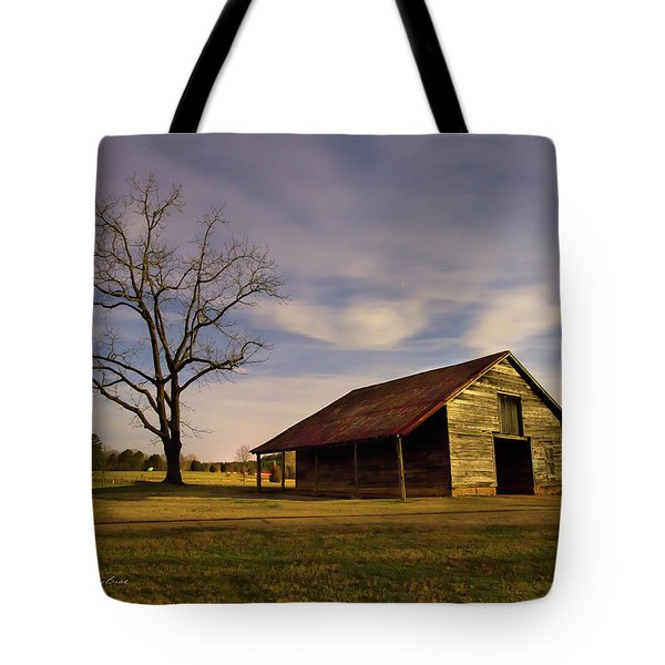 Tote Bag featuring the photograph Midnight At The Mule Barn by George Randy Bass