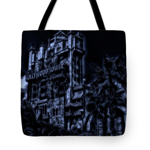 Midnight At The Tower Of Terror Mp Tote Bag