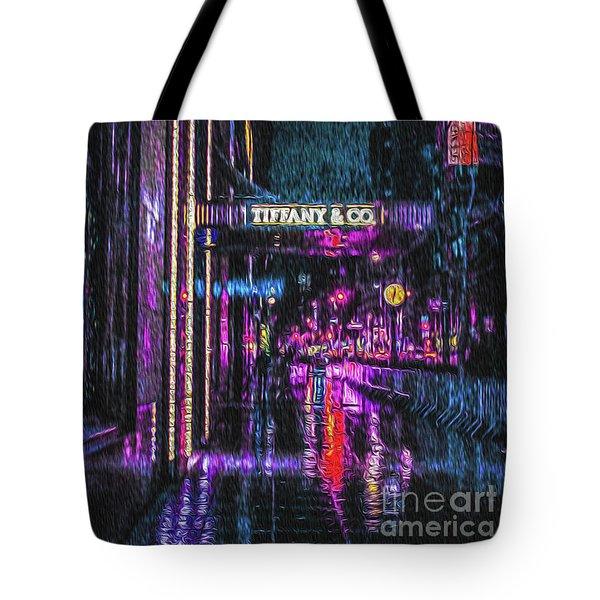 Midnight At Tiffany Painting Tote Bag