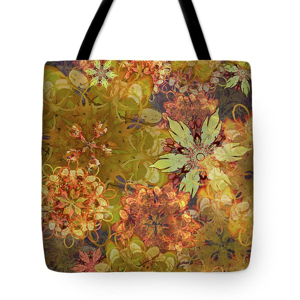 Midnight Blossom Bouquet Tote Bag
