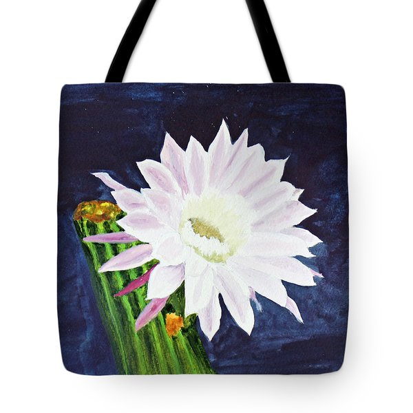 Tote Bag featuring the painting Midnight Blossom by Jack G  Brauer