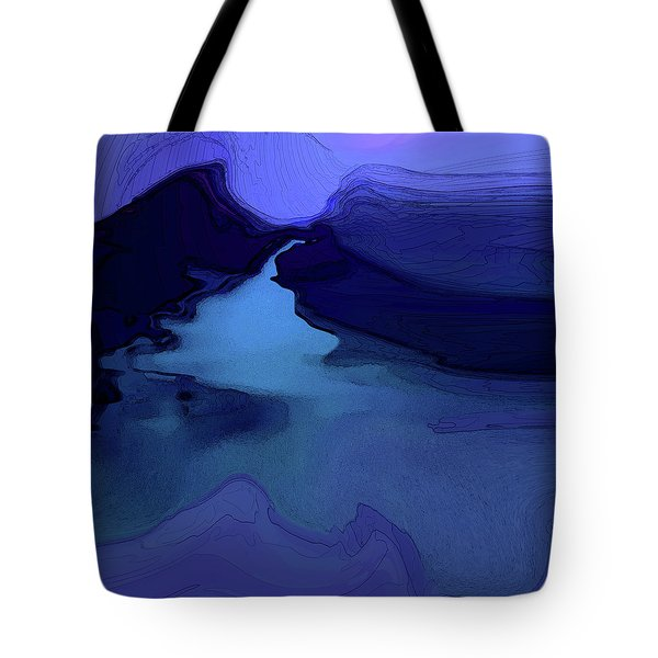 Tote Bag featuring the digital art Midnight Blue by Gina Harrison