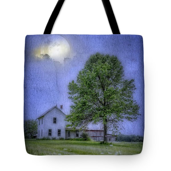 Tote Bag featuring the photograph Midnight Blue by Mary Timman