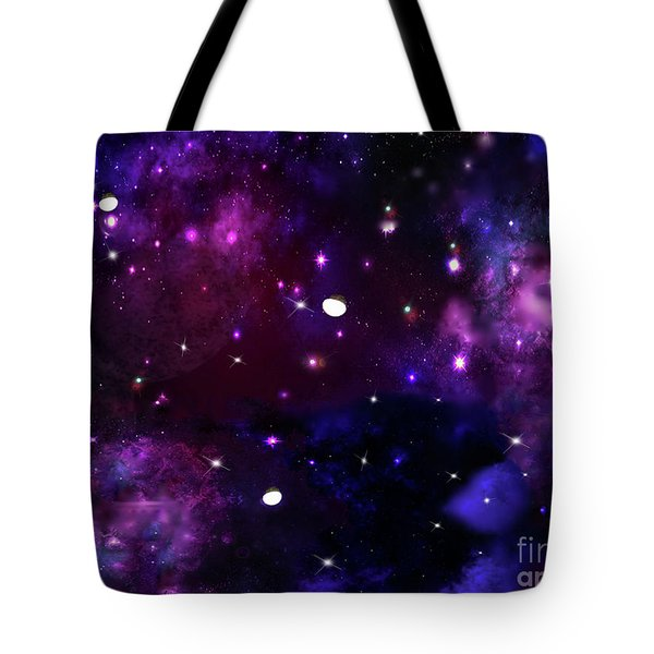 Midnight Blue Purple Galaxy Tote Bag