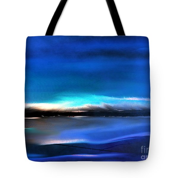 Midnight Blue Tote Bag by Yul Olaivar
