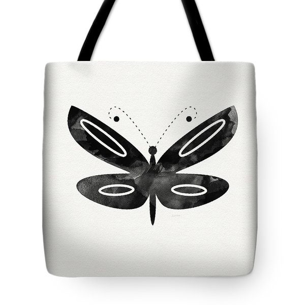 Midnight Butterfly 1- Art By Linda Woods Tote Bag
