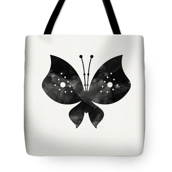 Midnight Butterfly 2- Art By Linda Woods Tote Bag