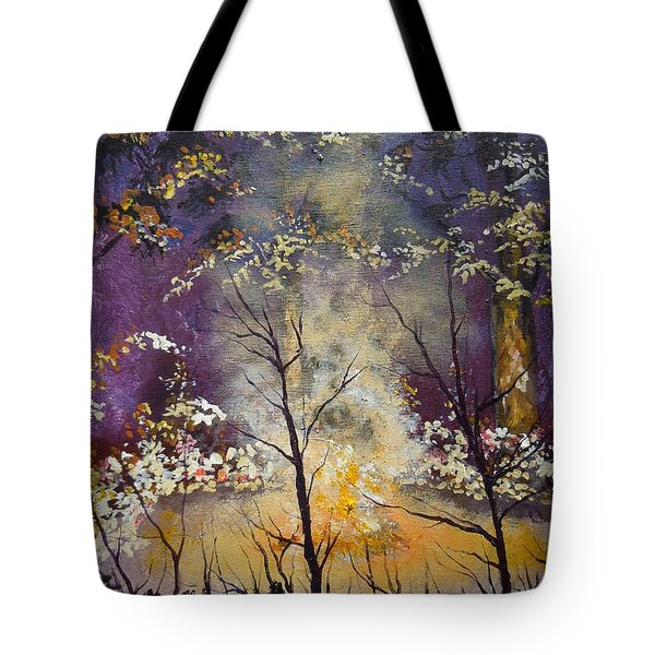 Midnight Campsite Tote Bag by Dan Whittemore