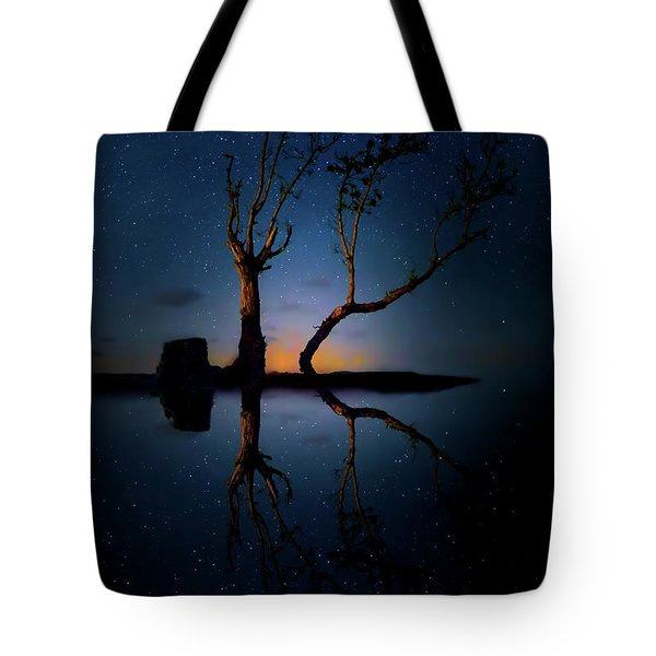 Tote Bag featuring the photograph Midnight Dance Of The Trees by Mark Andrew Thomas