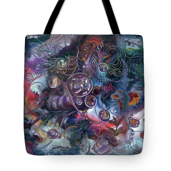 Midnight Dancing Bubbles Tote Bag