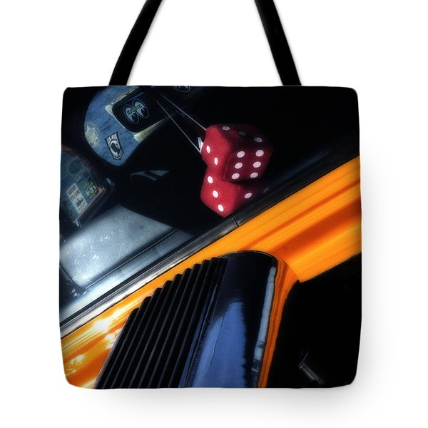 Midnight Dice In A Hot Rod Tote Bag