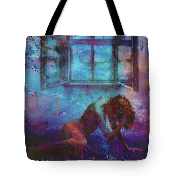 Tote Bag featuring the digital art Midnight Dreams  by Riana Van Staden