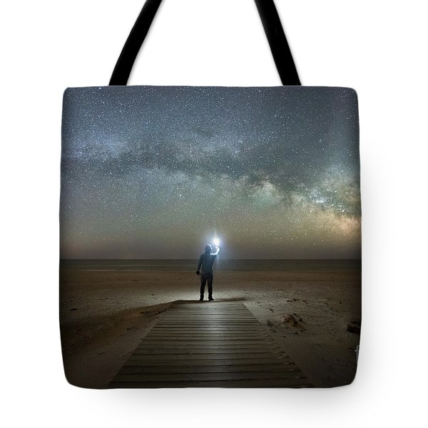 Midnight Explorer At Assateague Island Tote Bag
