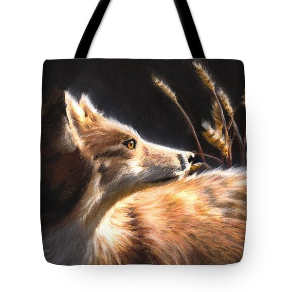 Midnight Fox Tote Bag