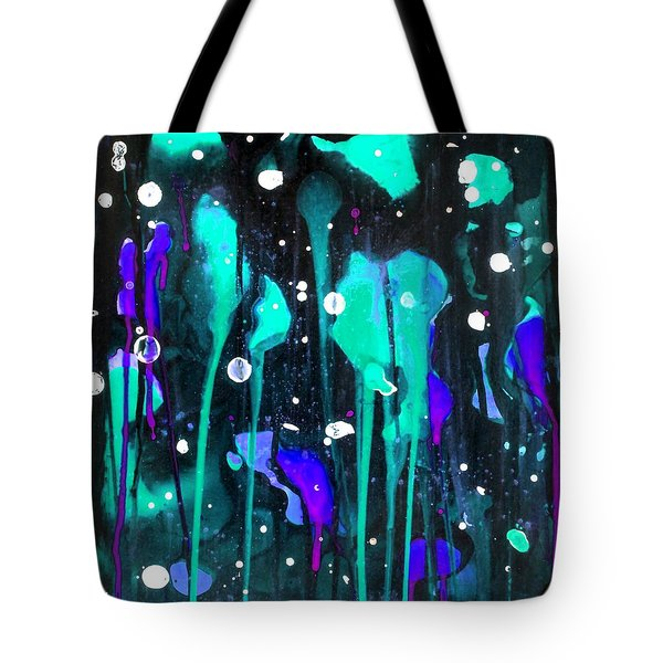Midnight Garden Blue Tote Bag