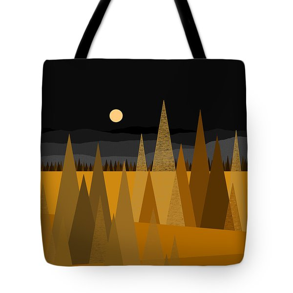 Midnight Gold Tote Bag by Val Arie