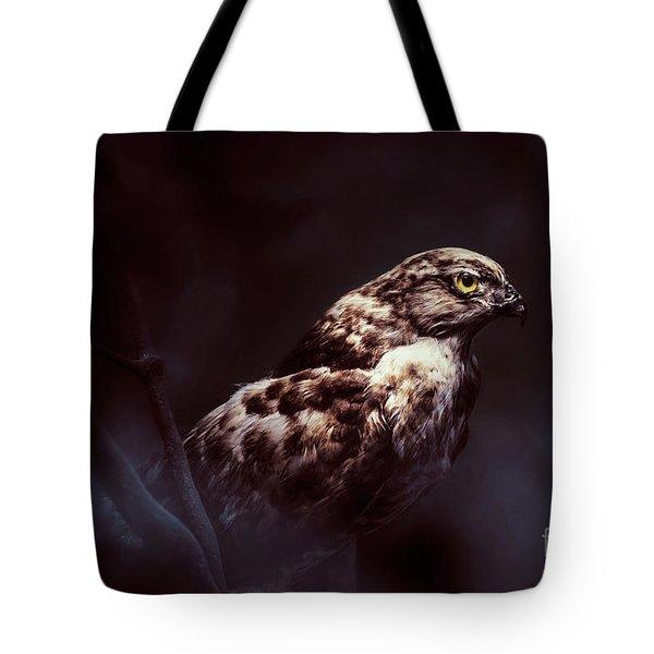 Midnight Hawk Tote Bag