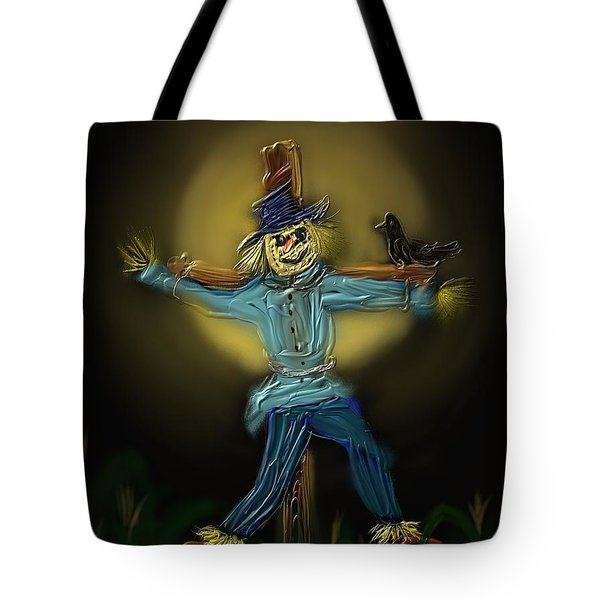Midnight In The Cornfield Tote Bag by Kevin Caudill