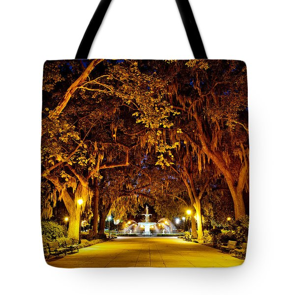 Midnight In The Garden Tote Bag by Renee Sullivan
