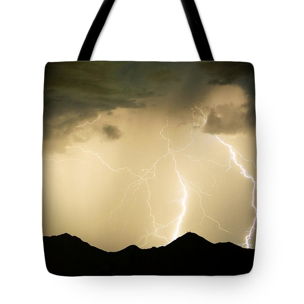 Midnight Lightning Storm Tote Bag by James BO  Insogna